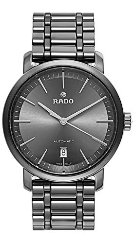 Rado DiaMaster XL Plasma High-Tech Ceramic Analog Automatic Dark Gray Dial Men's Watch R14074112