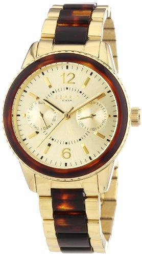 Esprit ES106742003 - Reloj analógico de cuarzo para mujer, correa de acero inoxidable chapado color dorado