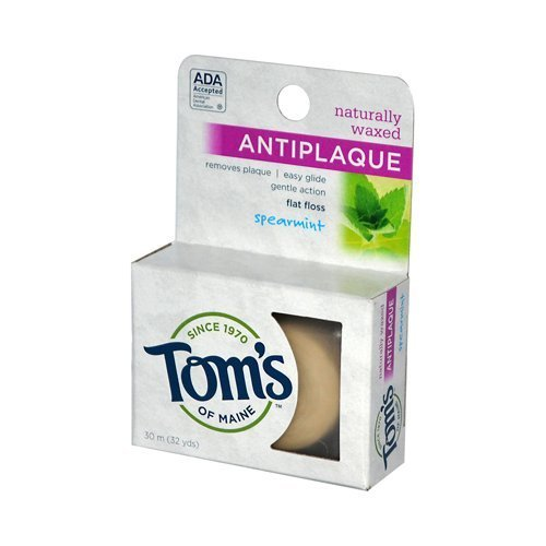 dental-floss-spearmint-anti-plaque-flat-32-yard-value-bulk-multi-pack-by-toms-of-maine
