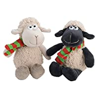 Small Super Soft Sheep with Scarf Toy Black White Lamb Childrens Childs Kids