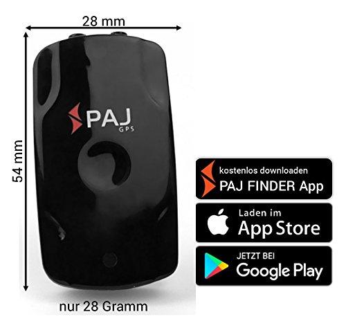 MINI Finder von PAJ, MINI-GPS-TRACKER MIT APP, federleicht, kleiner als Streichholzschachtel, geräuschlos, 3 Tage ohne Aufladen