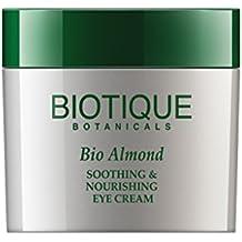 Biotique, Bio Almond, Crema per contorno occhi calmante e nutriente, 15 g