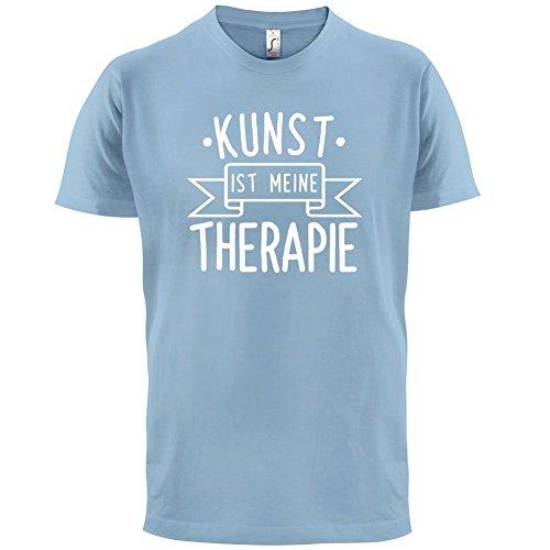 Kunst ist meine Therapie - Herren T-Shirt - 13 Farben Himmelblau