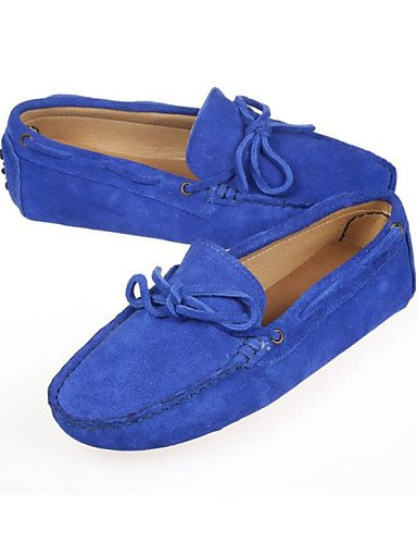 ZQ gyht Scarpe Donna - Mocassini - Tempo libero / Casual - Punta arrotondata - Piatto - Di pelle - Nero / Blu / Marrone / Rosa / Arancione , orange-us6 / eu36 / uk4 / cn36 , orange-us6 / eu36 / uk4 /  blue-us5.5 / eu36 / uk3.5 / cn35