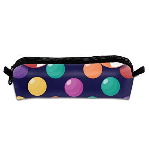 Nahtloses Halloween-Muster mit kleinen Süßigkeiten auf dunklem Schüler-Stiftetui, Reißverschluss, kleine Kosmetiktasche, Make-up-Tasche, Münzbörse, für Kinder, Jugendliche und andere Schulbedarf