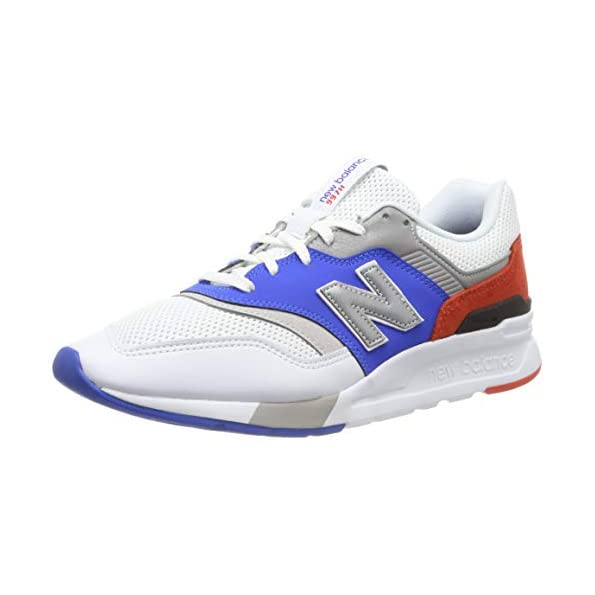 New Balance Men 997 Trainers – White White Blue, 12 UK