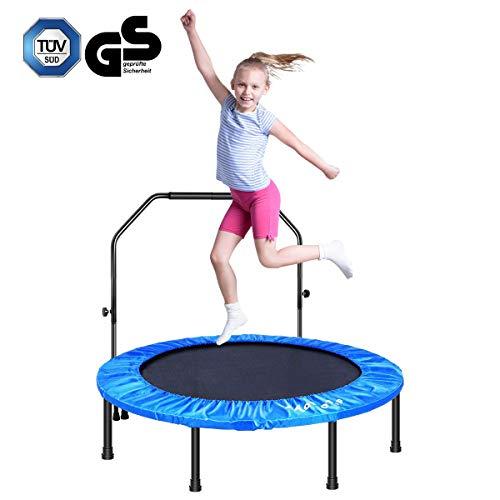MOVTOTOP 48 Inch Fitness Trampolin, Indoor Trampolin Faltbar Klappbare, Trampolin für Kinder & Erwachsene (48 inch)