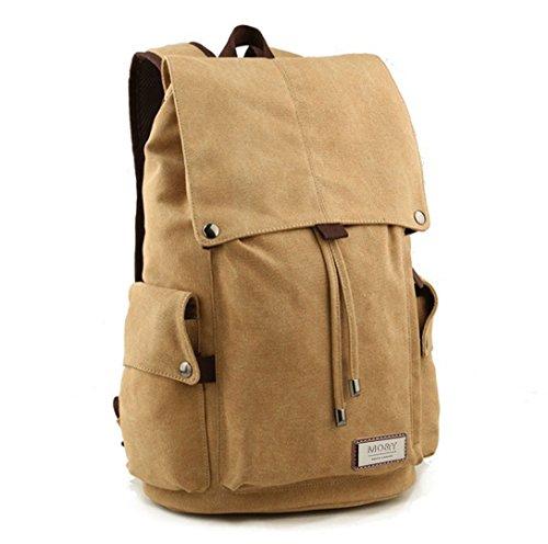 MO&Y Zaino unisex di Zaino in tela Sacchetto del sacchetto Sacca da escursione Il più nuovo stile di modo (cachi) cachi