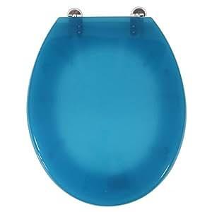 Guy Levasseur - Abattant WC de toilette Transparant Turquoise Siege WC standard