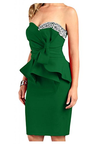 Toscane mariée en forme de cœur pour femme motif étoiles longueur genoux abendkleider satin cocktail party robe courte Vert - Jaeger Gruen