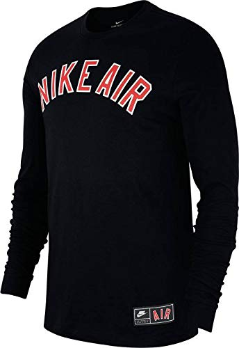 new concept ba198 cfaa1 Nike Herren M NSW Tee Long Sleeve CLTR AIR 1 Sleeved T-Shirt, Black