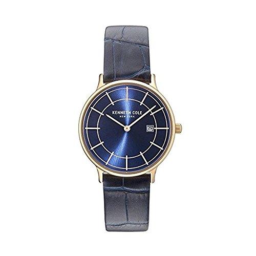 Kenneth Cole Femme Bracelet Cuir Bleu Quartz Analogique Montre KC15057002
