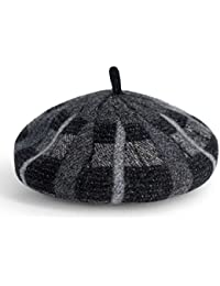 d6d5fae9a8c9f CATRP Boinas Mujer Sombrero De Pintor Retro A Cuadros Sombrero De Gorrita  Tejida De Viaje Niña De Gorro De Calabaza