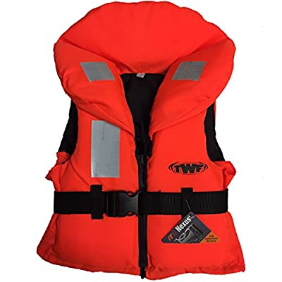 Kids 100N Approved Life Jacket Buoyancy Aid Childs Children Boys Girls Orange Lifejacket from TWF
