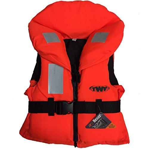 41HpoS8qG6L. SS500  - TWF Kids 100N Approved Life Jacket Childs Children Boys Girls Orange Lifejacket
