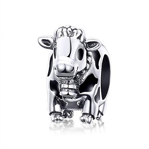 Cow Animal Collection Charm-Anhänger Kuh Sterling-Silber 925 für Original-Armbänder