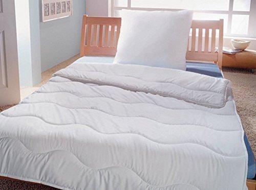 Bettwaren-Set 2-teiliges Microfaser Bettenset - Decke und Kissen- auch für Allergiker - Ökotex - 135 x 200 cm + 80 x 80 cm EXTRA PRALLE KOPFKISSEN: 1000g