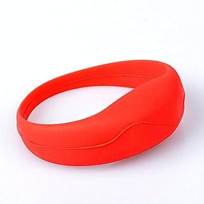Ton gesteuerte LED Light Up Armband Glow Armband Silikagel Rot