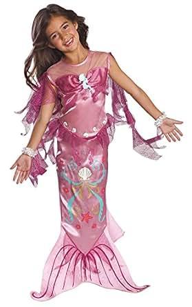Rosa Mermaid - Childrens Costume - Medium - 132 centimetri
