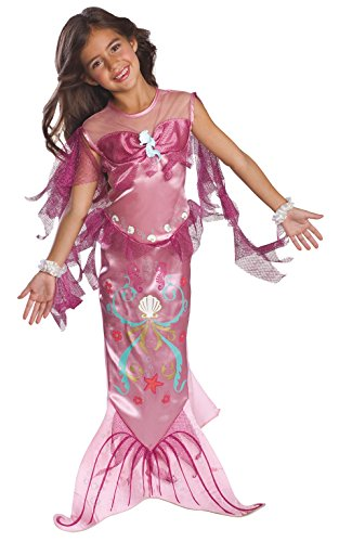 Rosa Mermaid - Childrens Costume - Medium - 132 centimetri