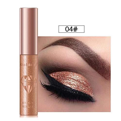 Cwemimifa Eyeshadow Palette Billig,Flüssige Lidschatten-Diamant-Perlglanz-Farbe wasserdichte Lidschatten-Lösung,Weiß -