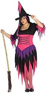 Atosa 31474 Disfraz bruja  adulto XXL, talla mujer