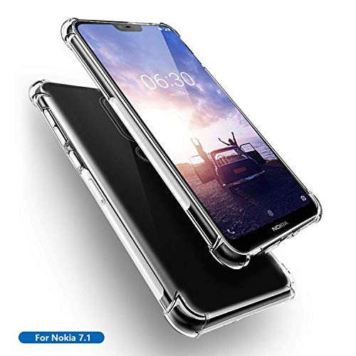 Newlike Nokia 7.1, NewLike Exclusive – [Bumper] Transparent Back Cover Clear Thin Case – for Nokia 7.1