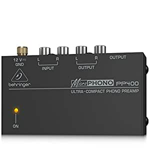 Behringer PP400 Microphono Pre-Amplifier (Silver)