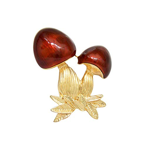 Ogquaton Strass Brosche Pins für Frauen Pilz Schmuck Brosche Pins Langlebig und nützlich (Zu Machen Halloween-pins)