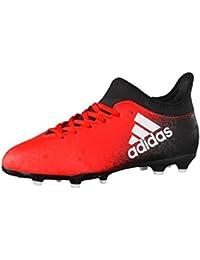 adidas X 16.3 FG J - Botas de fútbolpara niños, Rojo - (ROJO/FTWBLA/NEGBAS), 35
