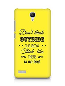 Amez Dont think Outside the Box think like there is no Box Back Cover For Xiaomi Redmi Note