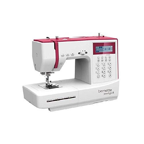 Bernina Bernette Sew & GO 8 - Máquina de coser electrónica con 197 puntadas de costura (útiles, elásticas, decorativas), acolchado y patchwork, eléctrica, Automática y con pantalla multifunción - Diseño suizo