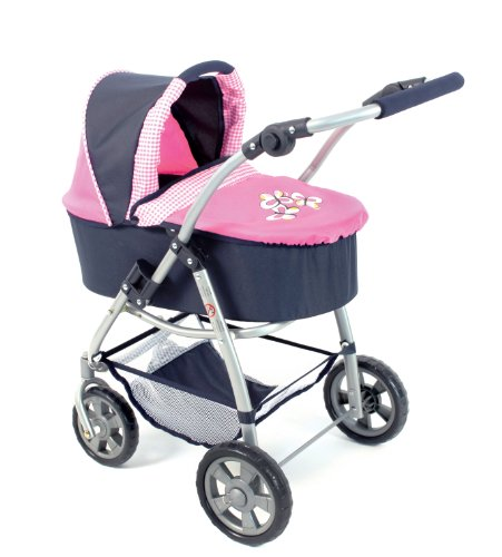 Bayer Chic 2000 638 46 - Kombi Puppenwagen Emotion 2-in-1, pink checker Preisvergleich