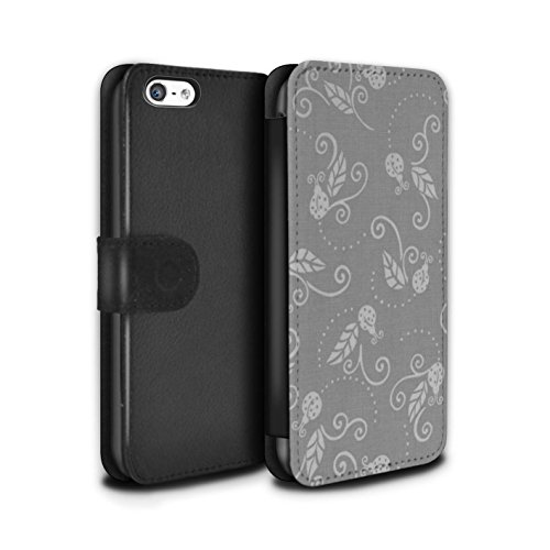 Stuff4 Coque/Etui/Housse Cuir PU Case/Cover pour Apple iPhone 5C / Pack (9 pcs) Design / Motif Coccinelle Collection Gris
