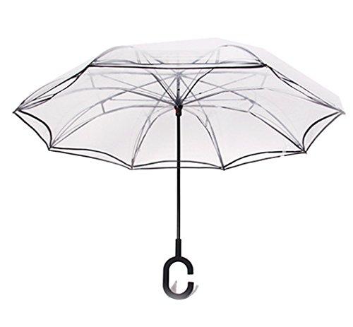 Invertido Paraguas Transparente
