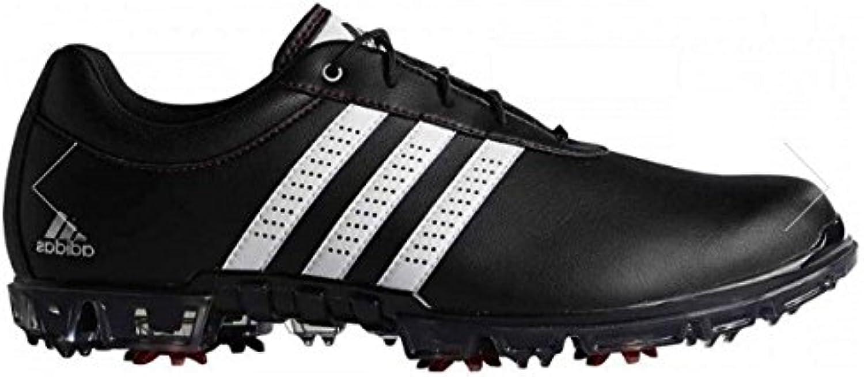 Adidas Adipure Flex WD, Zapatos de Golf para Hombre, Negro/Blanco / Rojo, 44.6 EU