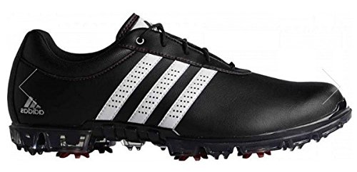 adidas Herren Adipure Flex Wd Golfschuhe, Schwarz (Core Black/White/Power Red), 44 2/3 EU