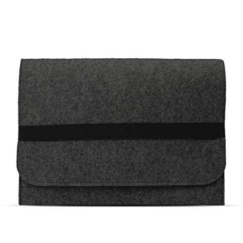 eFabrik Schutzhülle für Acer Travelmate Spin B1 Tasche aus Filz 11,6 Zoll Filztasche Case Sleeve Soft Cover Schutztasche Sleeve, Farbe:Dunkelgrau