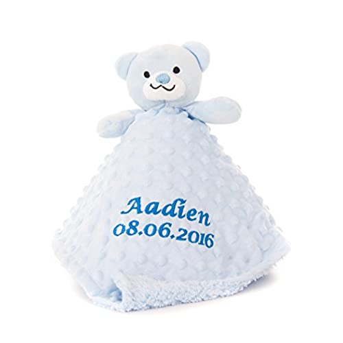 Personalised baby boy gifts amazon personalised embroidered boys baby comforter toy teddy gift negle Images