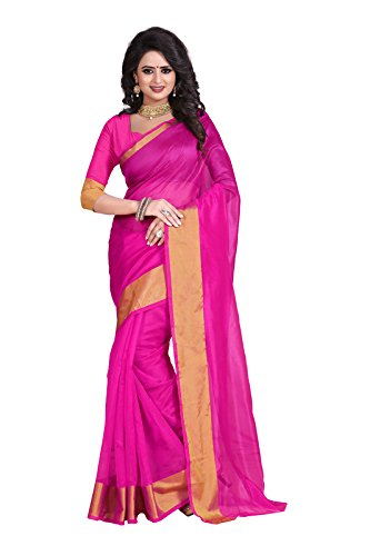 SUNSHINE Pink Art Silk Bhagalpuri Saree ( New Arrival Latest Best Design Beautiful Saree Material Collection For Women and Girl Party wear Festival wear Special Function Events Wear In Low Price With Todays Special Offer with Fancy Designer Blouse and Bollywood Collection 2017 )  available at amazon for Rs.256