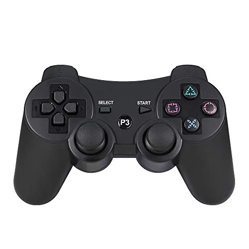 Hoyxel PS3 Controller, ER11 Wireless Controller mit Doulshock Motors Joystick für Sony PS3 Playstation 3 (Third Party Made) schwarz