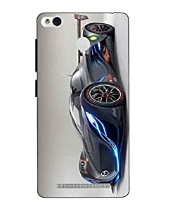 Snazzy Car Printed Black Hard Back Cover For Xiaomi Redmi 3S