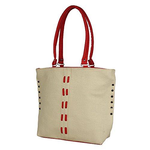 Glory Fashion Women\'s Stylish Handbag White-AK-311