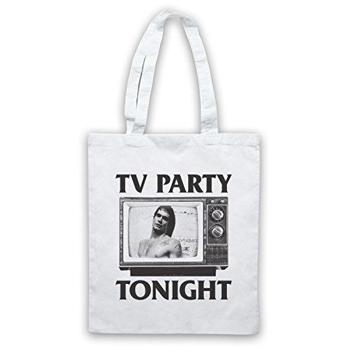 Inspiriert durch Black Flag TV Party Inoffiziell Umhangetaschen Weis