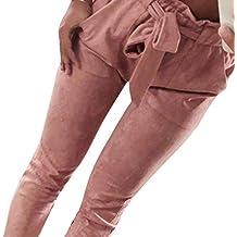 Laisla fashion Pantaloni Casuali delle dei Pantaloni dei Classiche Pantaloni  del Harem di Bowtie A Strisce ca65a59690d0