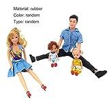 Tellaboull 4Pcs Baby Dolls Father + Mother + 2 Kids Dress Up Kit Giocattoli per Bambini Giocattoli per Bambini 4 Persone Bambole di Famiglia Suit Joimes Rimovibili