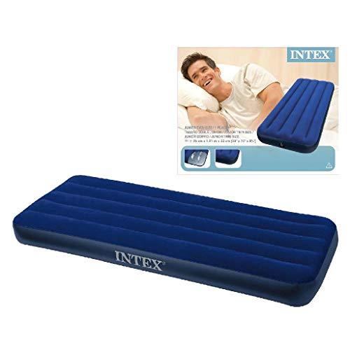 Intex 68950 Materassino Gonfiabile Classico, Velluto, Blu, 191 X 76 X 22 Cm