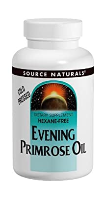 Source Naturals Evening Primrose Oil (Gluten & Hexane-Free, 1350mg, 60 Softgels) by Source Naturals