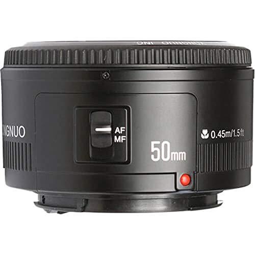 Yongnuo YN50MM Objektiv Canon-f/1,8, 46º, Ø 52mm, Farbe: schwarz