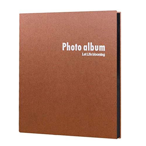 BWHTY Fotoalbum DIY Paste Album, Hochzeitsalbum, Fotos mit großer Kapazität, Tourismusliebe (Farbe: Dunkelbraun, Größe: Weiße Innenseite)